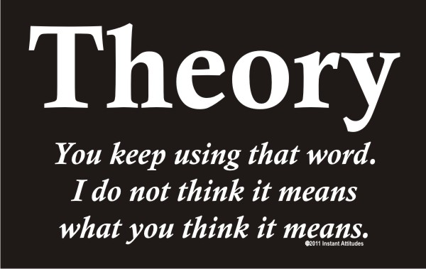 Theory - You keep using that word . . . . .