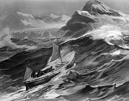 Boat in Violent Waves
