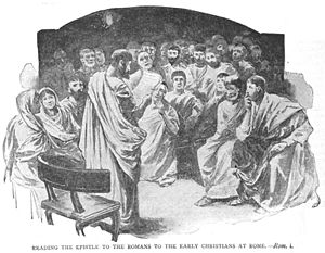 An Epistle being read in assembly
