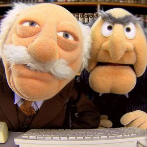 Muppet Curmudgeons Statler and Waldorf