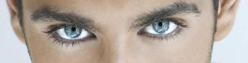 Man's Blue Eyes