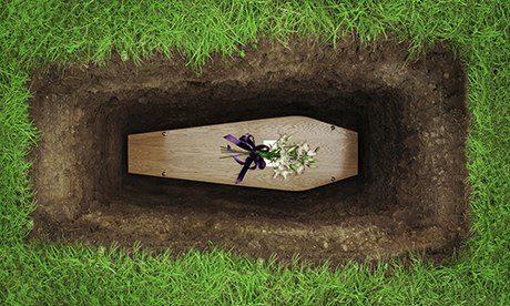 Coffin in Grave