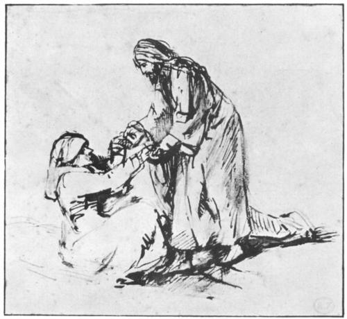 Rembrandt, 1660, Healing of Peter's Mother-in-Law