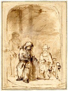 The Widow's Mite by Rembrandt